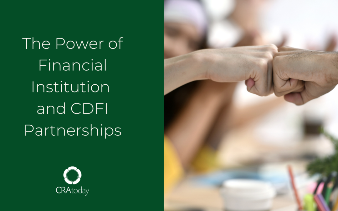 The Power of Financial Institution and CDFI Partnerships
