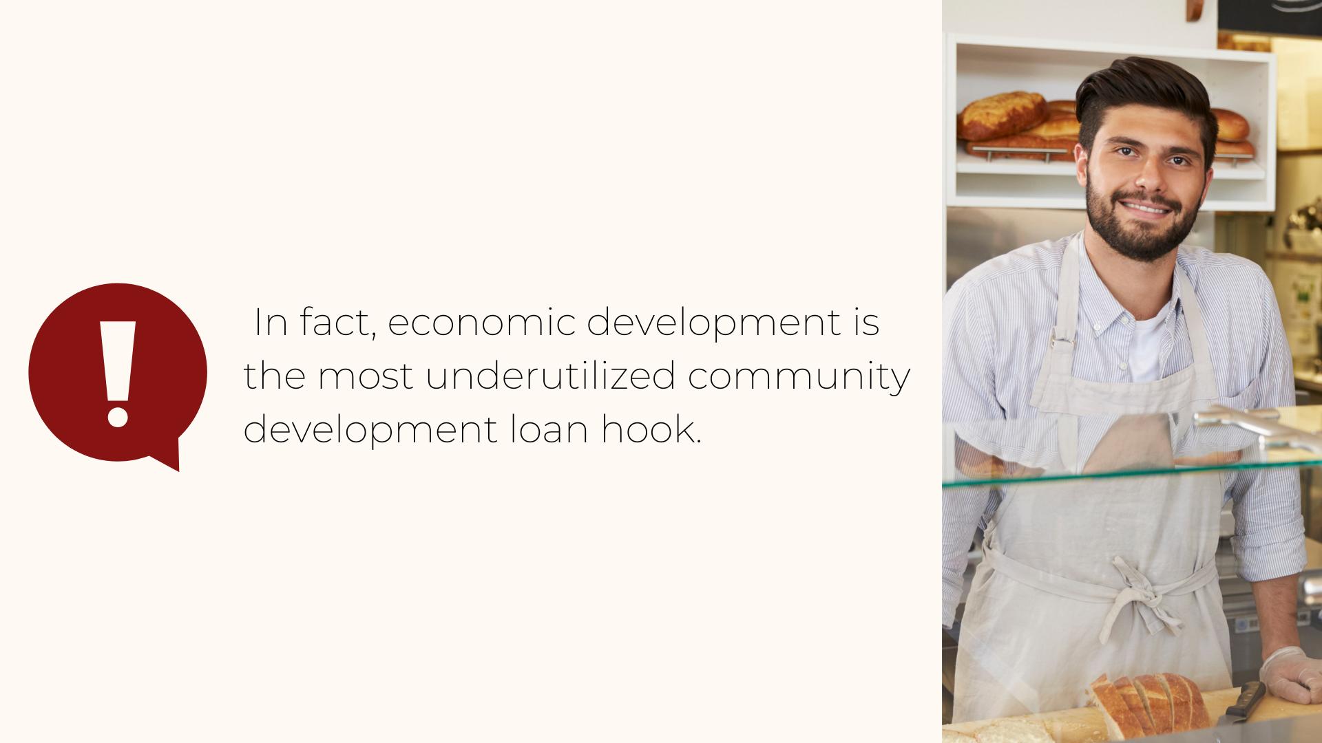 Economic Development underutilized community development loan hook