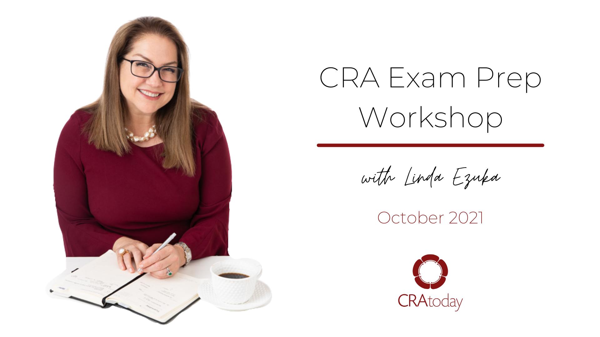 CRA Exam Prep Workshop with Linda Ezuka
